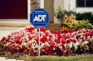 ADT lawn sign