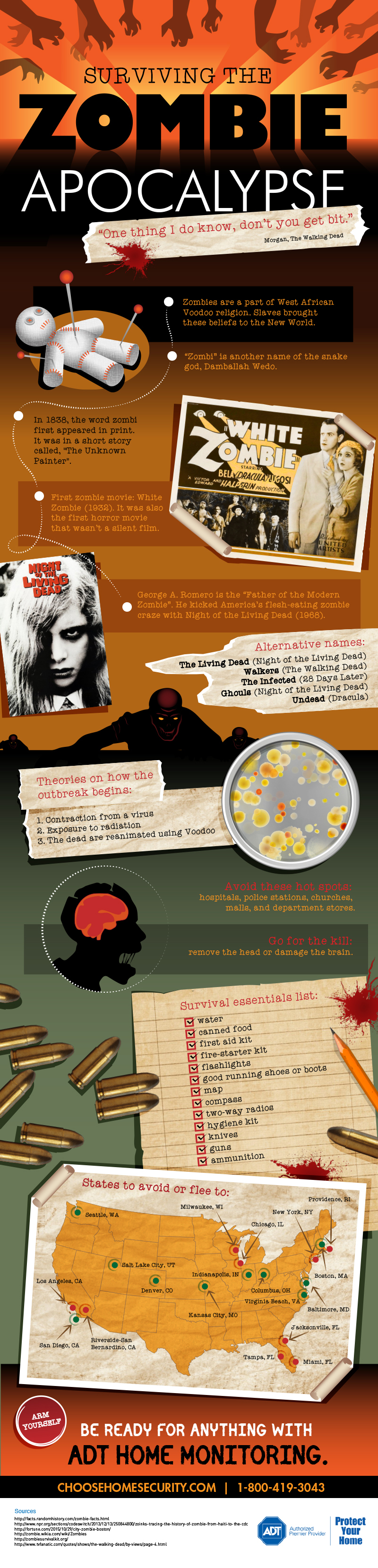 Surviving The Zombie Apocalypse Infographic